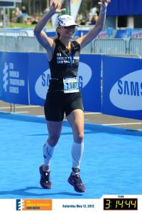 Finishing my first Olympic distance tri in 2012